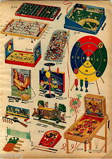 1957 ADVERT 2 PG Toy Electro Magnetic Baseball Ice Hockey Game State Fair