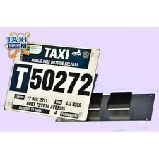 Magnetic PSV Licence Plate Carrier Holder for Taxis and Taxi Buses