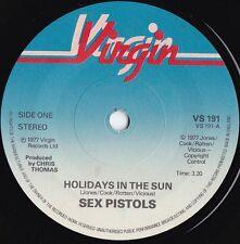 Sex Pistols ORIG UK 45 Holidays in the sun VG+ '77 Virgin VS191 Punk PIL