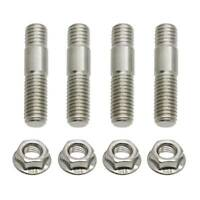 M8x35 a2-70 Stainless Exhaust Stud Flange Nut Set Replace For Suzuki Honda