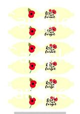 Remembrance  hair bow making fabric simply cut out template bows canvas printed