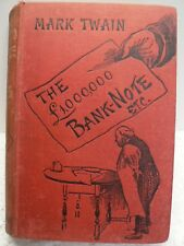 The £1,000,000 Bank-Note And Other Stories By Mark Twain 1st Edition 1893 Rare!