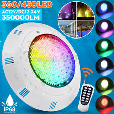 450LED 350000LM RGB Swimming Pool LED Light IP68 Underwater Fountain  K F