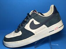 newest collection 9186c f2bd8 2004 Nike Air Force 1 JD SPORTS EUROPE WHITE DENIM NAVY BLUE PINK Size 11.