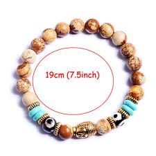 Men Lava Stone Onyx Buddha Hamsa Beaded Hot Handmade Yoga Energy Bracelet