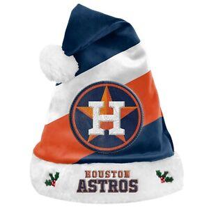 Houston Astros Team Big Logo Holiday Plush Santa Hat NEW! Christmas SH19