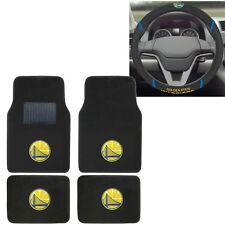 New NBA Golden State Warriors Car Truck Carpet Floor Mats & Steering Wheel Cover