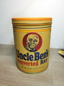 Uncle Ben's Converted Long Grain Rice Tin Container 1985 Canister 1947 Replica