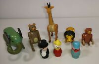 FISHER PRICE Vintage Figures Zoo Circus Clown Lion Elephant Bear Giraffe Monkey