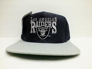 Vintage Deadstock Los Angeles Raiders Snapback Hat Signature Script Cap Rap NFL