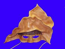 SIGNED Joma Leather Mask Cosplay Costume Masquerade Halloween Pirate Wall Hangin