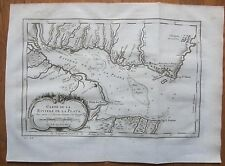 BELLIN: South America Decorative Map Buenos Aires Rio Plata Montevideo - 1750