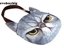 fce0f0129f Hot New Muchacha 3D Cat Head Face Animal Tote Bag Handbag Shoulder Women Bag  syq