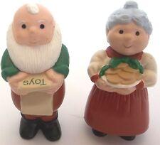 Hallmark Merry Miniatures Christmas Mr. Mrs. Claus Santa 1989