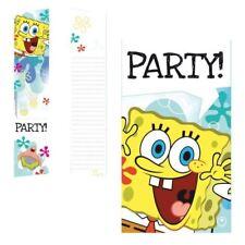 Spongebob Squarepants Birthday Party Invitations & Envelopes X 6