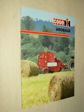 Prospectus Tracteur Presse CASE IH AROBALE Tractor Traktor Prospekt Brochure
