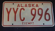 Alaskan 1976 Exempt License Plates