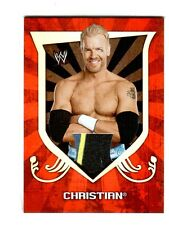 WWE Christian 2011 Topps Classic Event Worn Shirt Relic Card 3 Color Blue Black