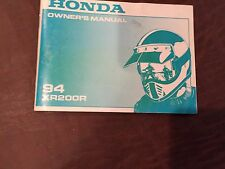 HONDA 94 XR200R 200  MOTORCYCLE OWNER'S MANUAL USED