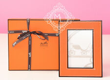NEW IN BOX HERMES CLASSIC 30% OFF PLEIADE ORANGE LEATHER PHOTO FRAME HOME AVALON