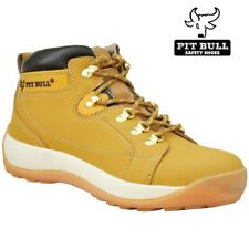 MENS LEATHER SAFETY BOOTS WORK STEEL TOE CAP HIKER ANKLE WOMENS SHOES SIZE 5- 12