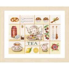Lanarte Cross Stitch kit 0163387 Tea Party