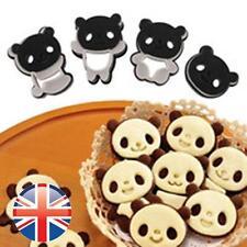 * UK Venditore * Set di 4 PANDA Cookie CUTTER STAMPO BISCOTTI Carino PASTICCERIA TORTE