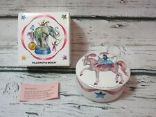 Villeroy & Boch Le Cirque Trinket Candy Jewelry Box Bowl Circus Horse and Stars