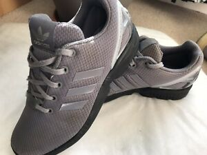 ADIDAS TORSION ZX FLUX GREY TRAINERS, SIZE U.K 5 EUR 38, HARDLY USED, EXCELLENT