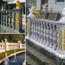 2Pcs/Set Moulds Balustrades Mold Concrete Plaster Cement Plastic Garden Decor