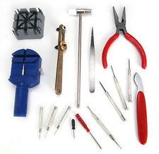 Reloj de 16 Piezas Conjunto Kit De Reparación Fix & Correa De Muñeca ajustar Pin removedor de herramienta de vuelta