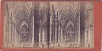 Milan Cattedrale Di Dopo Incisione Italia Stereo Vintage Albumina Ca 1875