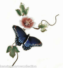 WALL ART - RED SPOTTED PURPLE BUTTERFLY METAL WALL SCULPTURE - WALL DECOR