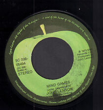 "JOHN LENNON ‎– Mind Games (1973 APPLE VINYL SINGLE 7"" HOLLAND)"