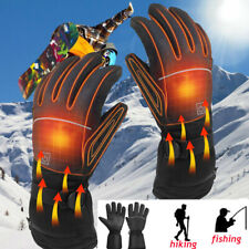Motorcycle Touch Screen Heated Gloves Winter Warm Battery Electric Waterproof