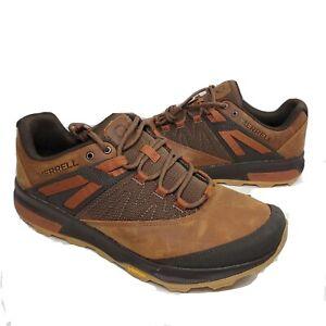Merrell Men's Zion Hiking Shoe Waterproof Dark Brown Size US 12  46.5 M  New