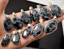 Sterling Silver Plated Bezel Pendants Pl-3 10 Pcs Natural Fruit Gabru Jasper 925