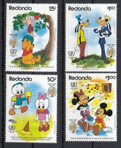 (68526) Antigua Redonda MNH Disney 1985 unmounted mint