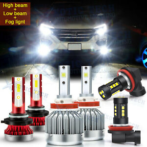 For Honda Pilot 2006-2018 6000K Combo H11 9005 LED Headlight + Fog Light Bulbs