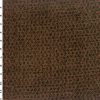 Rust Orange/Black Chenille Dobby Home Decorating Fabric, Fabric By The Yard