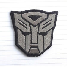 Autobot Transformers Movie Motorcycle Logo Hook Patch Swat Embroidered Acu Gray