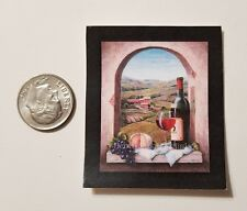 Miniature Dollhouse 1/12 Scale poster Pictures Wall Art Kitchen Italy Wine Arch