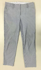 Talbots womens white black pin striped cotton stretch casual jeans size 8