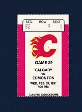 Flames vs Oilers 1991 hockey ticket stub - Joe Nieuwendyk 2- goals