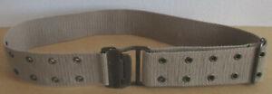 "Women's Beige Canvas Belt with Grommets Hook & Eye Closure 2"" Wide Size XS/Small"