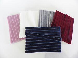 5 metres x 10mm  Velvet Ribbon: Select from 5 colourways