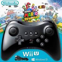 Wireless Black Gamepad Hand Joypad Controller Remote For Nintendo Wii U Pro