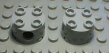 Lego Technic Lochstein rund 2x2 new Grau 2 Stück                         (751 #)