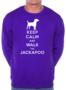 Keep Calm Walk The Jackapoo Dog Lovers Gift Present Sweatshirt