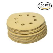 """100 Pcs/Set 220 Grit Sanding Discs Orbital Sandpaper For 5"""" Random Orbit Sander"""